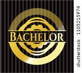 bachelor gold emblem   Shutterstock .eps vector #1105215974
