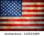 grunge usa flag | Shutterstock . vector #110521889