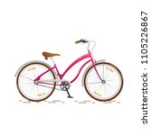 fashionable pink for girls bike ... | Shutterstock .eps vector #1105226867