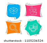 set of love  research and... | Shutterstock .eps vector #1105236524