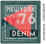 new york city slogan  t shirt... | Shutterstock .eps vector #1105238105