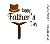 happy father day   Shutterstock .eps vector #1105240934