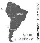 political south america map... | Shutterstock .eps vector #1105241879