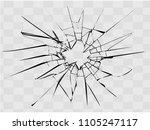 broken glass  cracks on glass   ... | Shutterstock .eps vector #1105247117