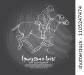 illustration of polo horse.... | Shutterstock .eps vector #1105247474