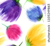 seamless floral background.... | Shutterstock . vector #1105249865