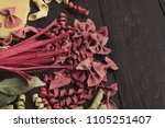 Various Types Of Red Pasta On...