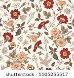 seamless pattern. beautiful... | Shutterstock .eps vector #1105255517