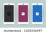 set of backgrounds with trendy...