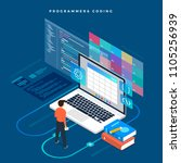 isometric flat design concept... | Shutterstock .eps vector #1105256939