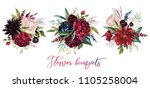 watercolor floral illustration  ... | Shutterstock . vector #1105258004
