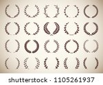 collection circular vintage... | Shutterstock .eps vector #1105261937