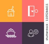 modern  simple vector icon set...   Shutterstock .eps vector #1105266611