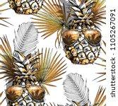 seamless pattern. vector gold...   Shutterstock .eps vector #1105267091