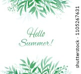 background with green hand... | Shutterstock .eps vector #1105267631