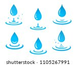 blue graphic water drops icons... | Shutterstock .eps vector #1105267991