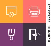 modern  simple vector icon set... | Shutterstock .eps vector #1105268225