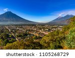 guatemala. antigua. panoramic... | Shutterstock . vector #1105268729