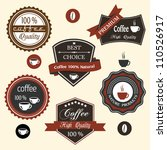 vector set of coffee labels | Shutterstock .eps vector #110526917