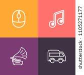 modern  simple vector icon set... | Shutterstock .eps vector #1105271177