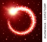 a bright comet with dust and... | Shutterstock . vector #1105273289