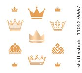 set of crowns icon. vector... | Shutterstock .eps vector #1105276667