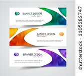 abstract header banner design... | Shutterstock .eps vector #1105283747