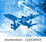 image of a plane against...   Shutterstock . vector #110528924