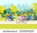 people  in a beautiful urban... | Shutterstock .eps vector #1105295237