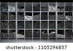 shelves of different metal... | Shutterstock . vector #1105296857