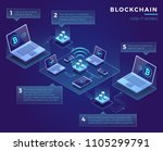 cryptocurrency blockchain... | Shutterstock .eps vector #1105299791