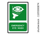 emergency eye wash symbol sign  ... | Shutterstock .eps vector #1105300874