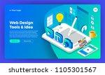 mockup website landing page... | Shutterstock .eps vector #1105301567