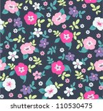 spring floral seamless pattern... | Shutterstock .eps vector #110530475