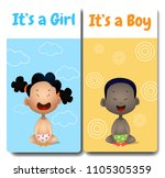 it's a boy and it's a girl... | Shutterstock .eps vector #1105305359