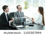 manager discussing work issues...   Shutterstock . vector #1105307894