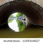 one of the tunnels that cover... | Shutterstock . vector #1105310027
