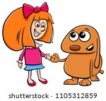 cartoon illustration of cute... | Shutterstock .eps vector #1105312859