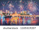 oil painting on the canvas of... | Shutterstock . vector #1105319207
