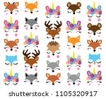 mix and match animal faces  ... | Shutterstock .eps vector #1105320917