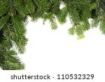 xmas green framework isolated on white background - stock photo