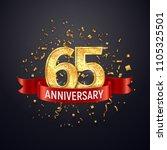 65 years anniversary logo... | Shutterstock .eps vector #1105325501