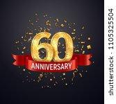 60 years anniversary logo... | Shutterstock .eps vector #1105325504