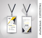 employee id card design template | Shutterstock .eps vector #1105325561