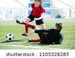full length portrait of... | Shutterstock . vector #1105328285