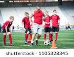 full length portrait of junior... | Shutterstock . vector #1105328345
