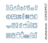 plastic product package ... | Shutterstock .eps vector #1105329917