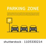 parking zone sign with car...   Shutterstock .eps vector #1105330214