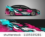 car decal vector  graphic... | Shutterstock .eps vector #1105335281
