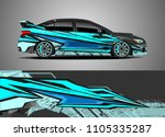 car decal vector  graphic...   Shutterstock .eps vector #1105335287